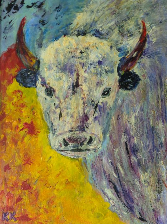 Abstract Cow's head - ART88
