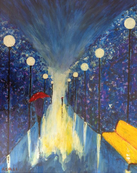 Park Alley At The Night - ART88