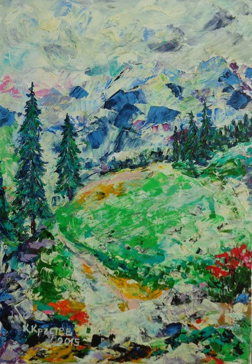 WITH PLEASURE IN THE MOUNTAIN - ART88