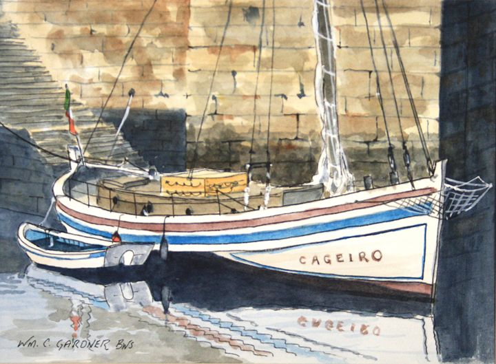 Harbor Scene - France - Gardner Watercolors