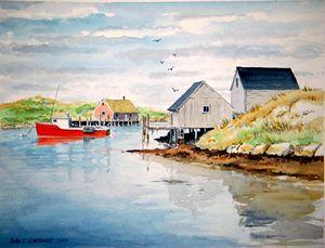 Peggy's Cove - Nova Scotia, Canada - Gardner Watercolors