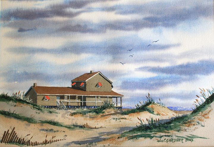 Hatteras Outer Banks North Carolina - Gardner Watercolors