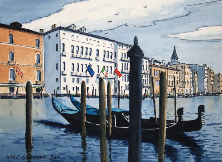 Grand Canal - Venice Italy - Gardner Watercolors