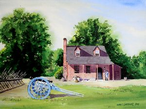 Colonial Williamsburg - Guardhouse - Gardner Watercolors