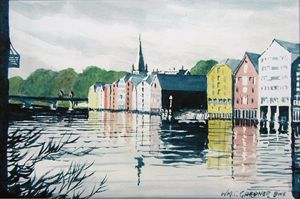 Trondheim Norway - Gardner Watercolors