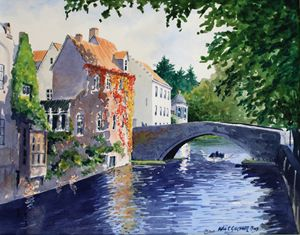Bruges Belguim - Gardner Watercolors