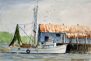 Shrimp Boat Amelia Island Florida - Gardner Watercolors