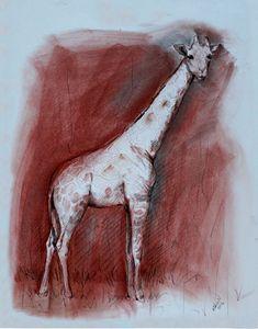 Charcoal Safari Giraffe