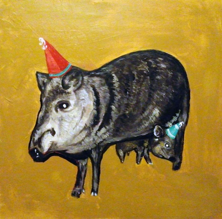 Javelinas in Party Hats - Adam Berardi