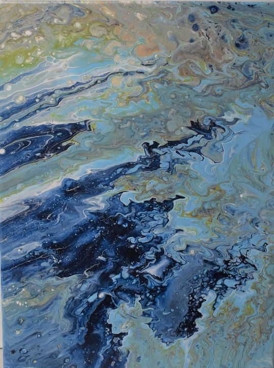 Blue Burst II - Glacier Innovations Fluid Art