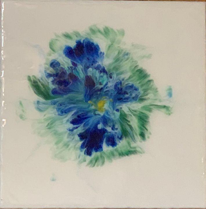 Blue Bloom I - Glacier Innovations Fluid Art