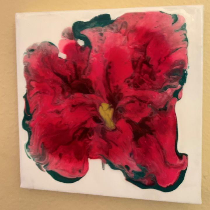 Red Bloom II - Glacier Innovations Fluid Art