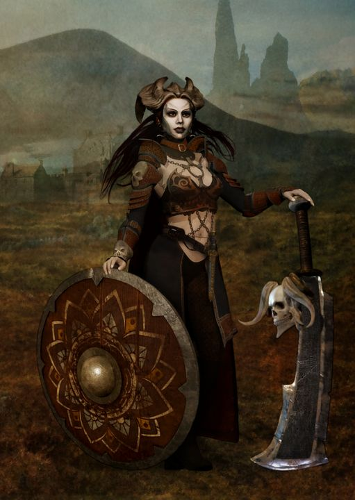 The barbarian queen - Fantastical Illustration