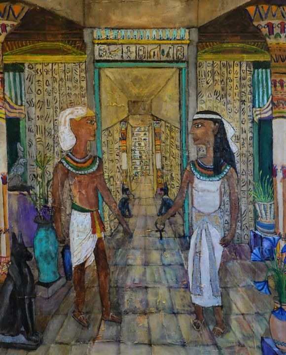 Date Night in Ancient Egypt - Paintings by Michael Hartstein
