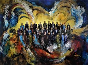 When a Choir Sings The world Listens - Paintings by Michael Hartstein
