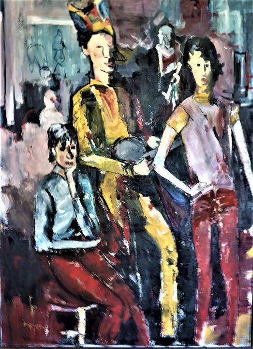 Three Jesters - Paintings by Michael Hartstein
