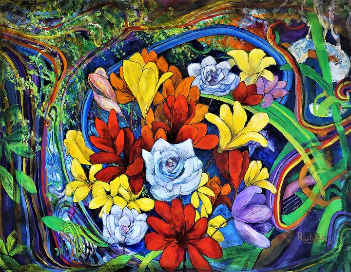 Fantasy Florals - Paintings by Michael Hartstein