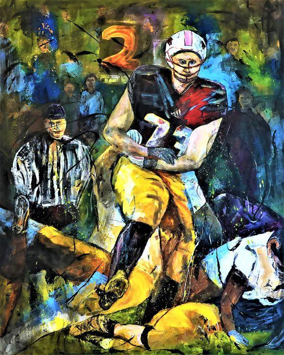 Afternoon Football - Paintings by Michael Hartstein