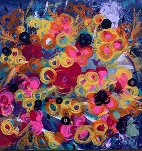 Floral explosion abstract