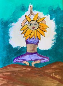Sunflower yogi
