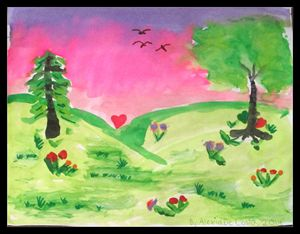 Love Under a Pink Sky
