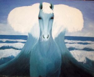 The horse of sea god