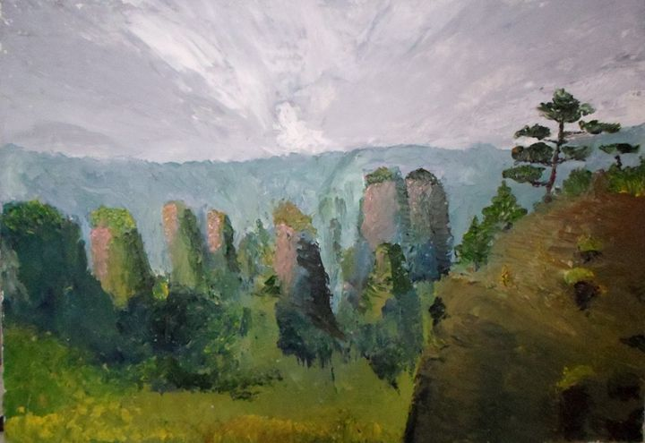 Mountains in China - KAY-painting