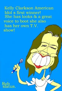 kelly Clarkson Caricature.