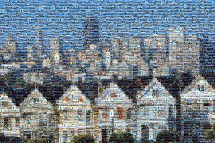 Alamo Square San Francisco Mosaic - Gareth owen