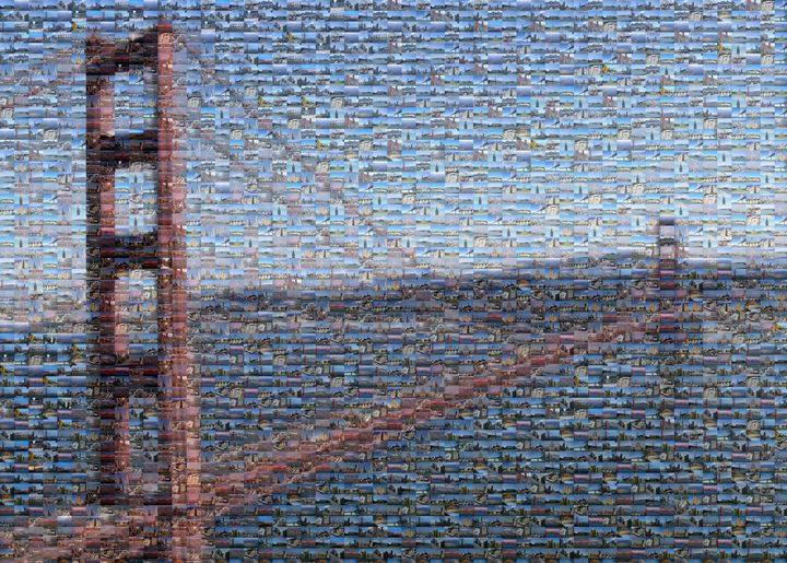 Golden Gate Bridge Mosaic - Gareth owen