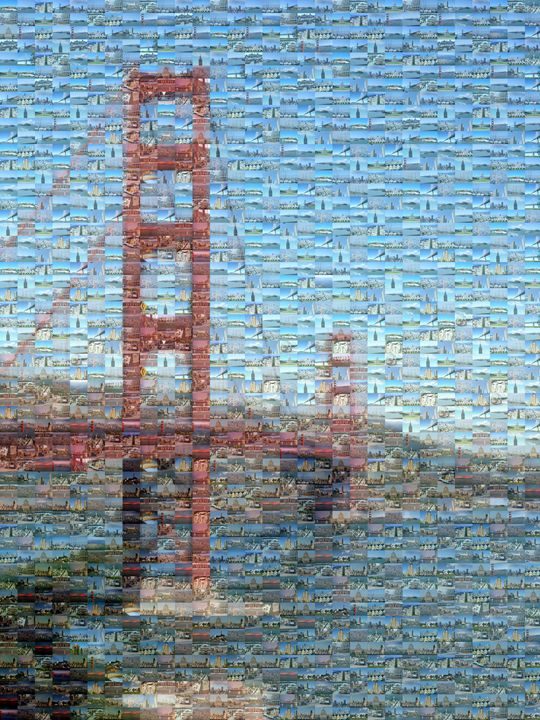 San Fran Golden Gate Bridge Mosaic - Gareth owen