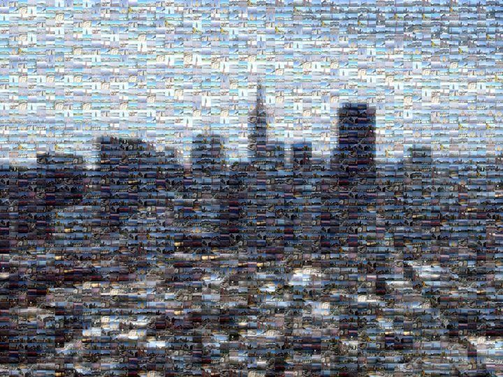 Downtown San Francisco Mosaic - Gareth owen