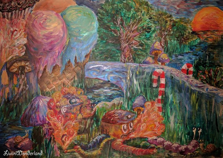 Entrance to Candyland - Livi in Wonderland Art