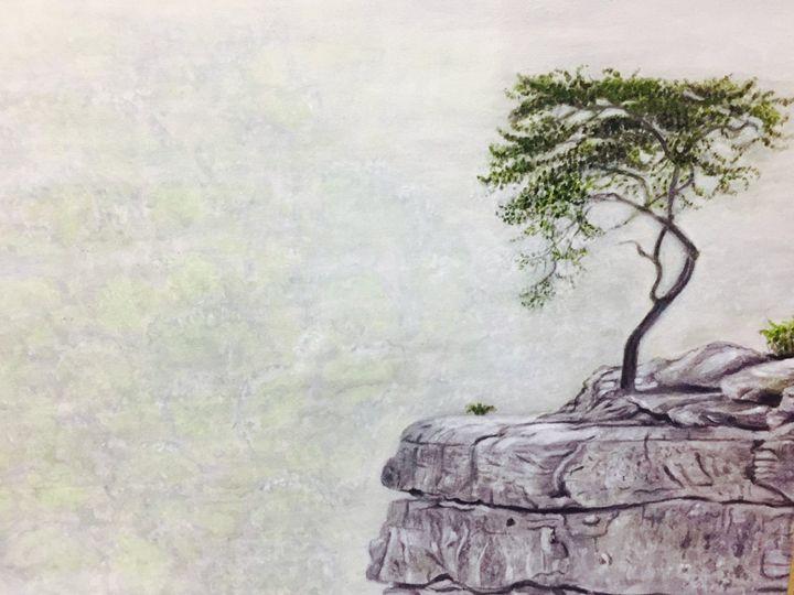 Alone tree - Paintings by Hajira