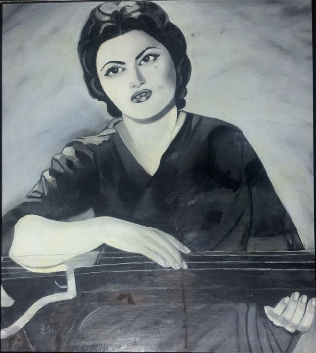 The queen of melody. - Paintings by Hajira