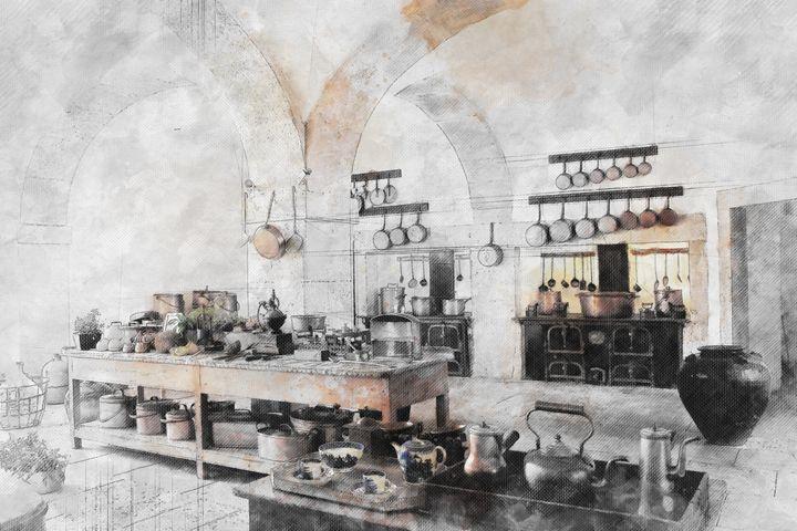 Old kitchen in Lisbon - Les carnets de l'architecte
