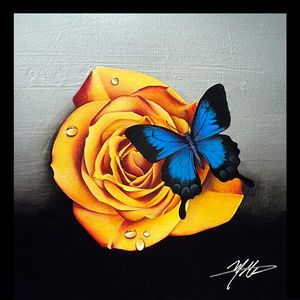 Rose and Butterfly