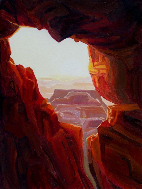Landscape w/ Red Rock - Garrett McDevitt
