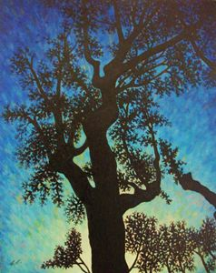 Lake Hughes Cottonwood: August 2015 - Claudia Cox Art