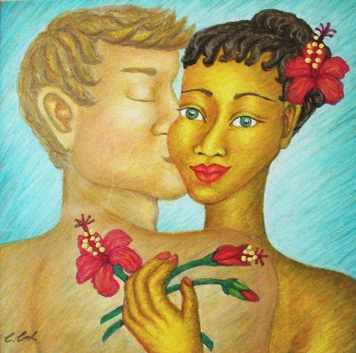 Tropical Hibiscus - Claudia Cox Art