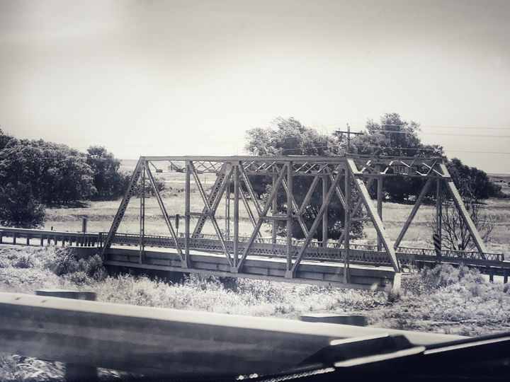 Oklahoma Bridge Crossing - Tammera Carter Art Gallery