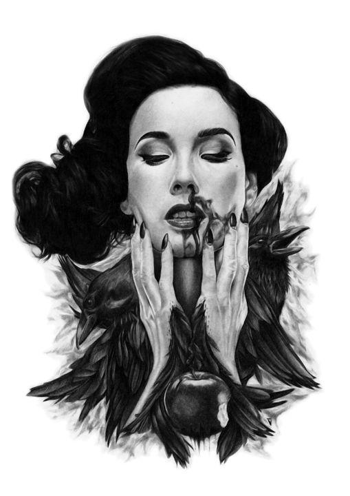 Snow White-Revenge Of The Raven - Volre Rahman Artspace