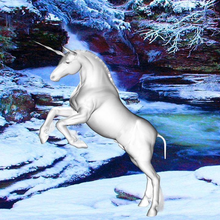 Unicorn in the Snow - ICARUSISMART