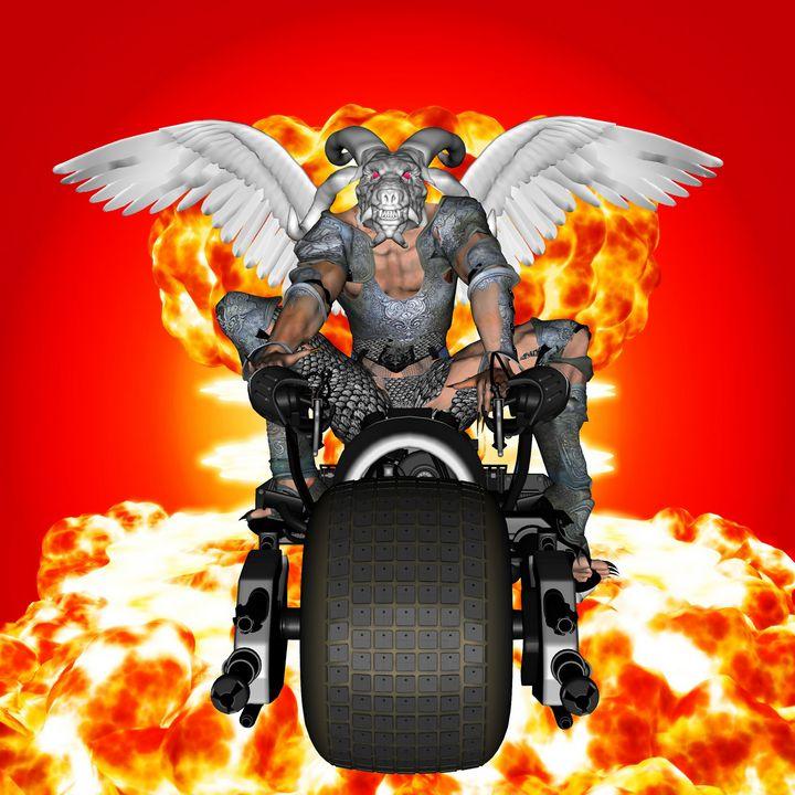 Biker of the Apocalypse-Conquest - ICARUSISMART