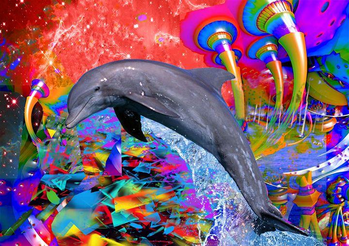 Dolphin Color Splash - ICARUSISMART