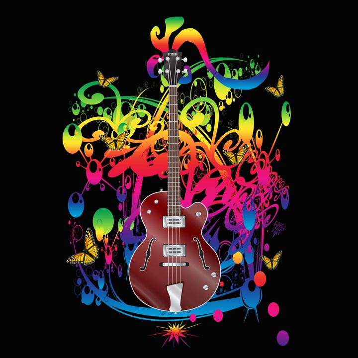Bass Guitar Color splash - ICARUSISMART