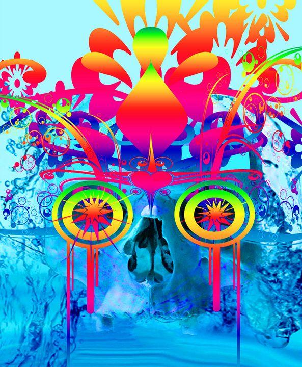 Psychedelic Skull - ICARUSISMART