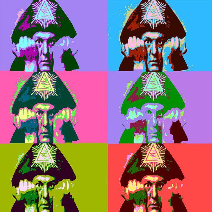 Aleister Crowley Pop Art - ICARUSISMART