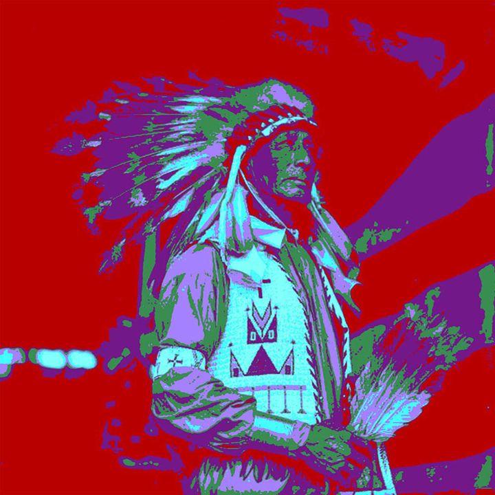 Indian Chief Pop Art - ICARUSISMART