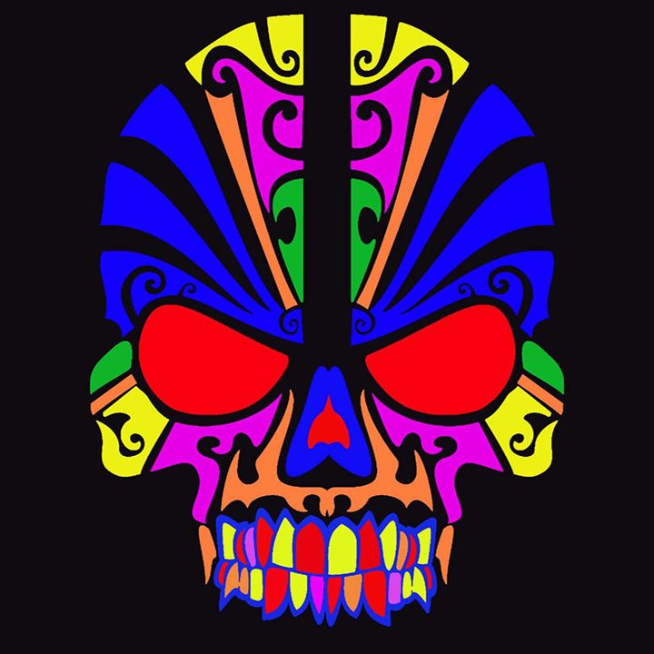 Skull in colour - ICARUSISMART